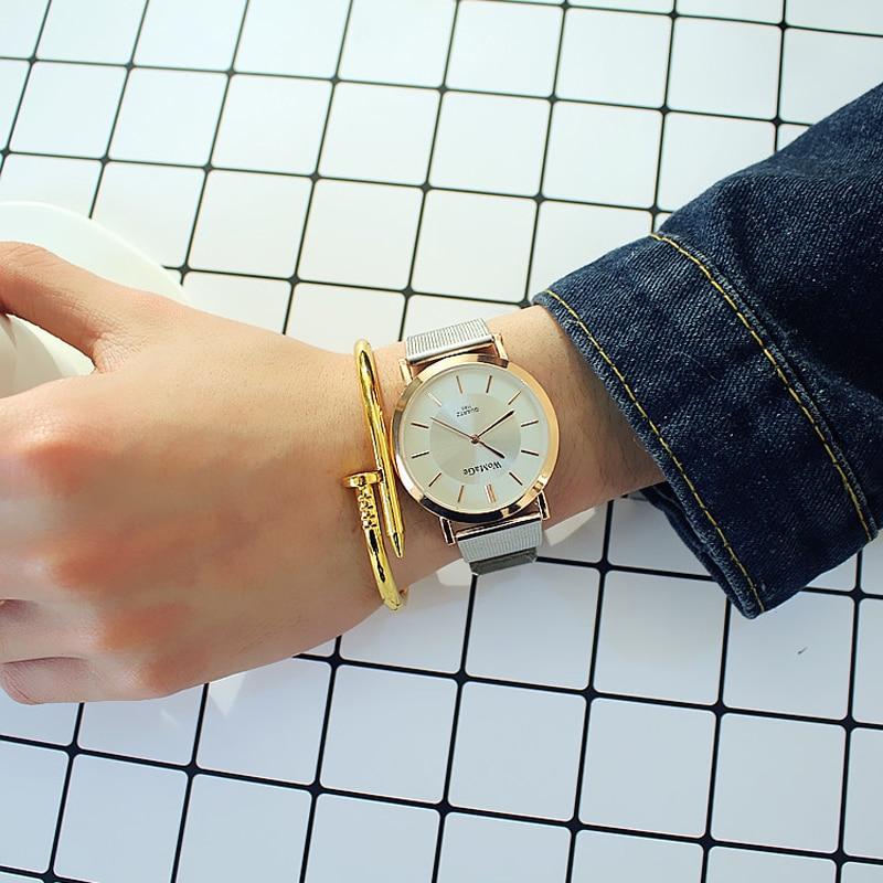 Horloges Vrouwen 2019 Gold Lovers Watches Luxury Couple Dress Quartz Wristwatch Steel Belt Clock Lady Man Gifts Relogio Feminino