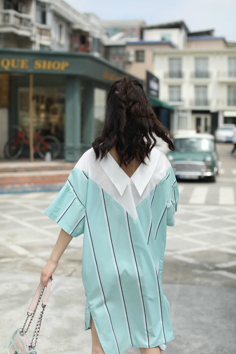 Mode Et Style La Blouses Jn471 Dames 2018 De Taille Contraste Feminina Tops Chemises Coréen Couleur Blusa Plus Patchwork qFFrE01