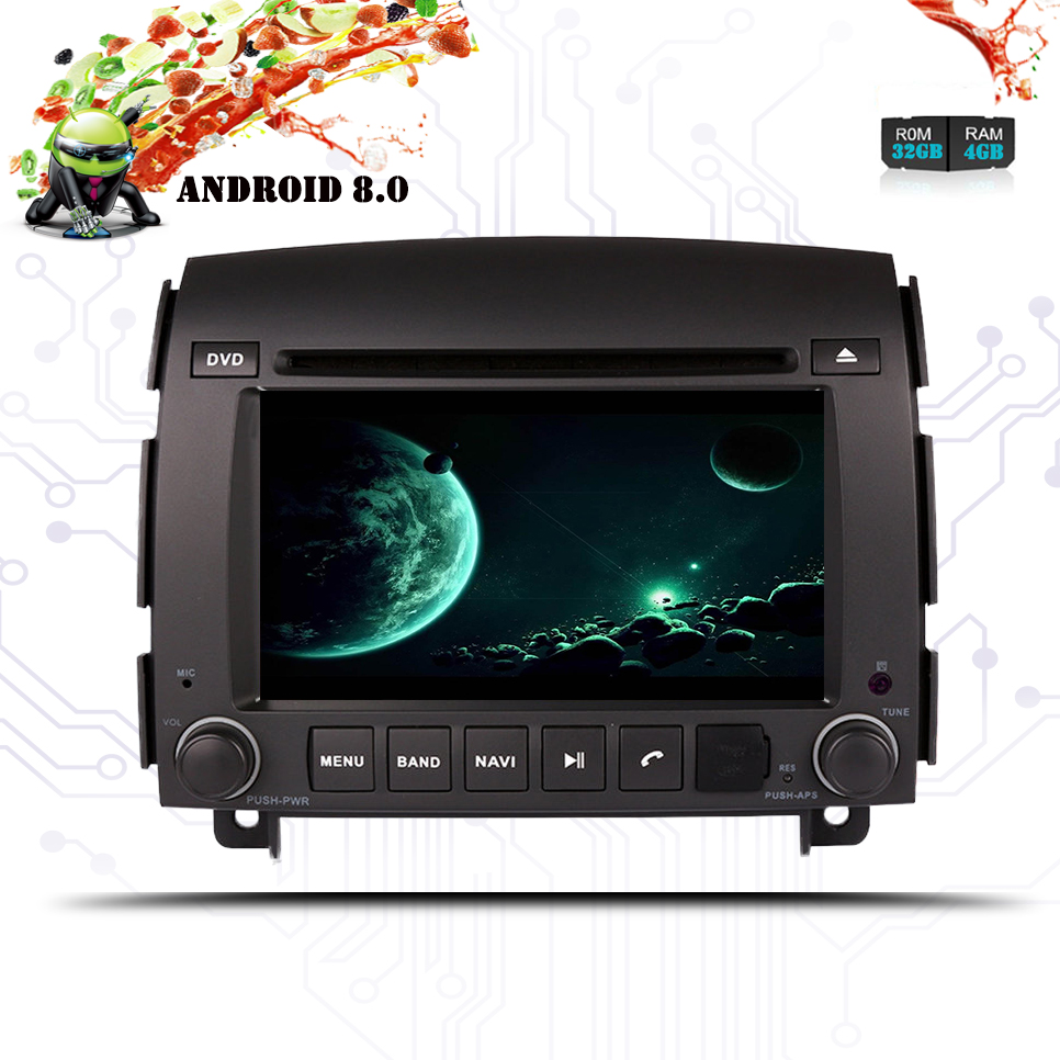 Android 8.0 Octa Core Auto Dvd-speler Gps Navigatie Auto Radio Stereo Voor Hyundai Sonata Nf Yu Xiang 2004- 2008 Unit Video Audio Pure Witheid