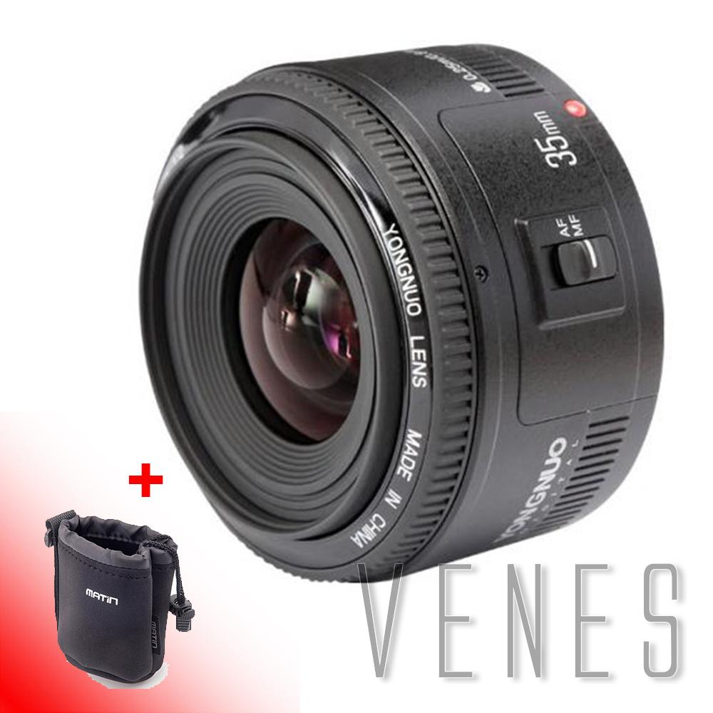 New YONGNUO 35mm Lens YN35mm F2 Lens 1:2 AF / MF Wide-Angle Fixed/Prime Auto Focu.s Lens For Canon EF Mount E OS Camera