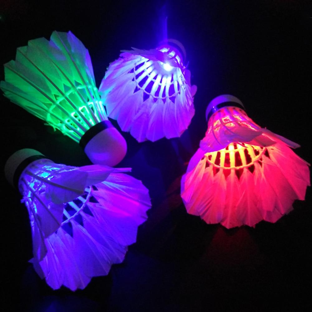 5pcs Lighting Badminton Dark Night Colorful LED Lighting Sport Badminton Light Spot Shuttle Cock #19