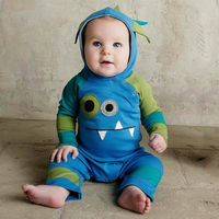 Lovely Dinosaur Style Baby Playsuit 100 Cotton Newborn Boy Romper Spring Autumn Infant Outerwear