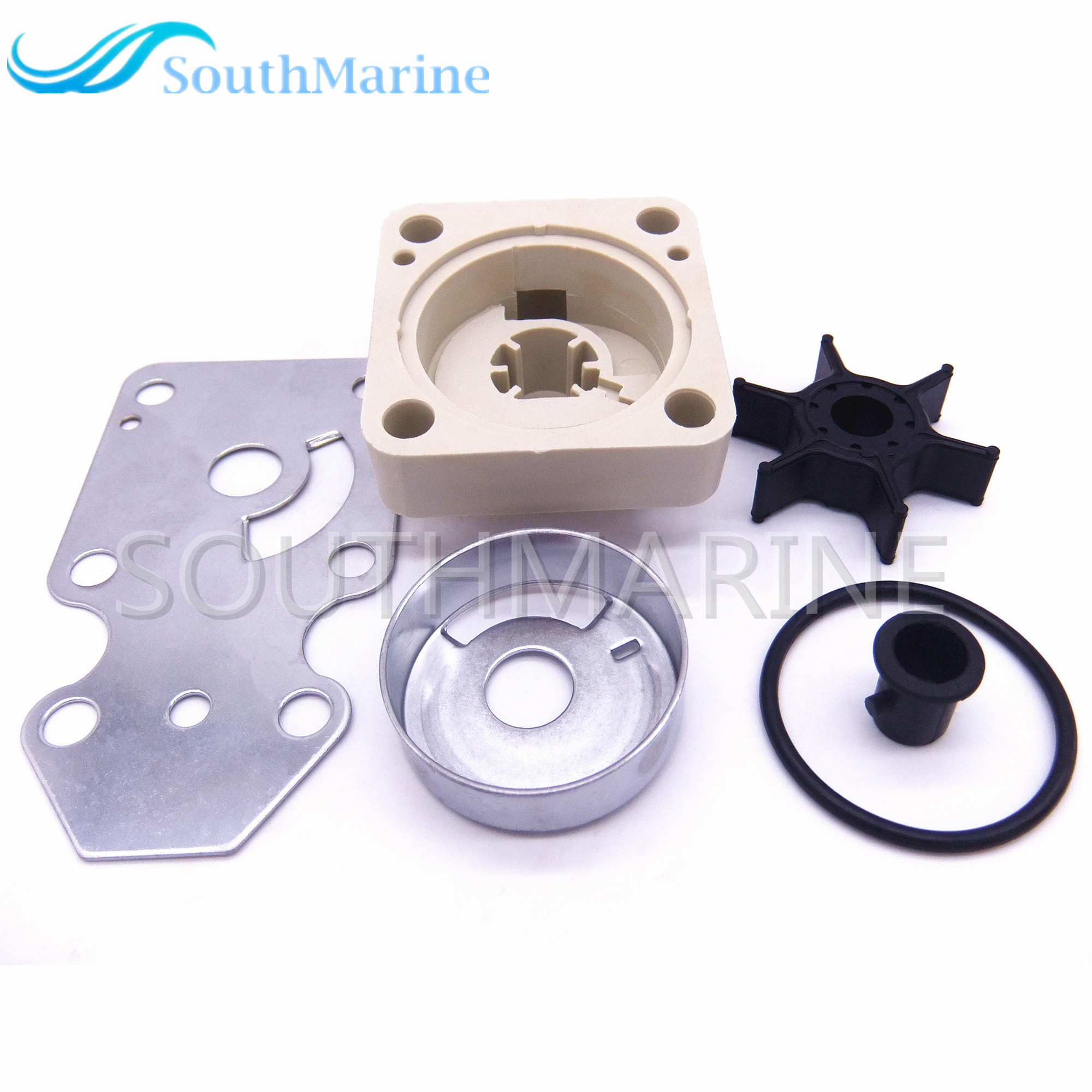 Water Pump Impeller 63V-W0078-00-00 Repair Kit for Yamaha F15 15hp 4-stroke Boat MotorsWater Pump Impeller 63V-W0078-00-00 Repair Kit for Yamaha F15 15hp 4-stroke Boat Motors