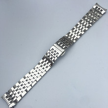 FOR Lillock T41 solid stainless steel strap seven-bead belt butterfly buckle watch chain