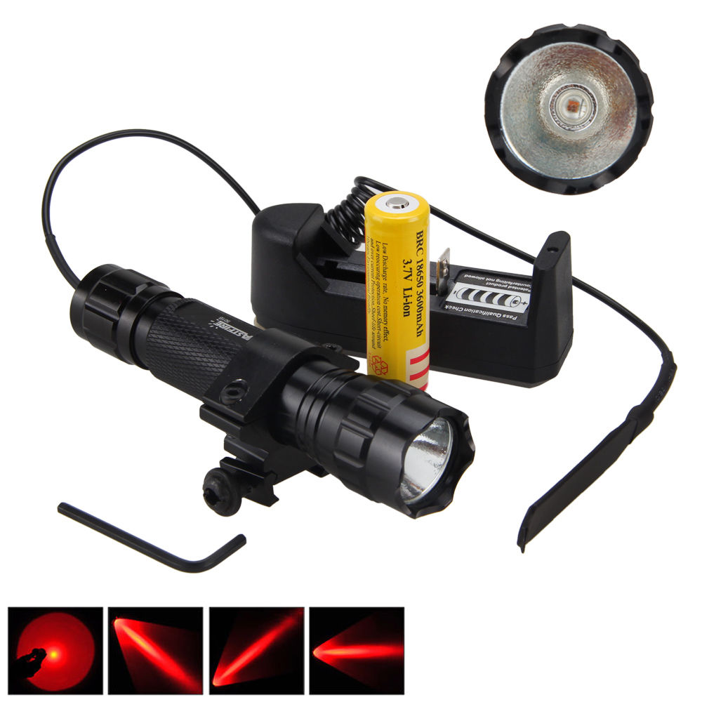 Aluminium Waterproof Hunting Torch 2000Lm XML Q5 Red LED Tactical Flashlight Pressure Switch Mount Light Gun sitemap 14 xml