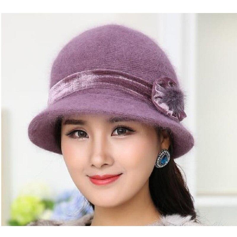 Nueva Moda Mujeres Sombrero de Invierno Conjuntos Floral Skullies - Accesorios para la ropa - foto 6
