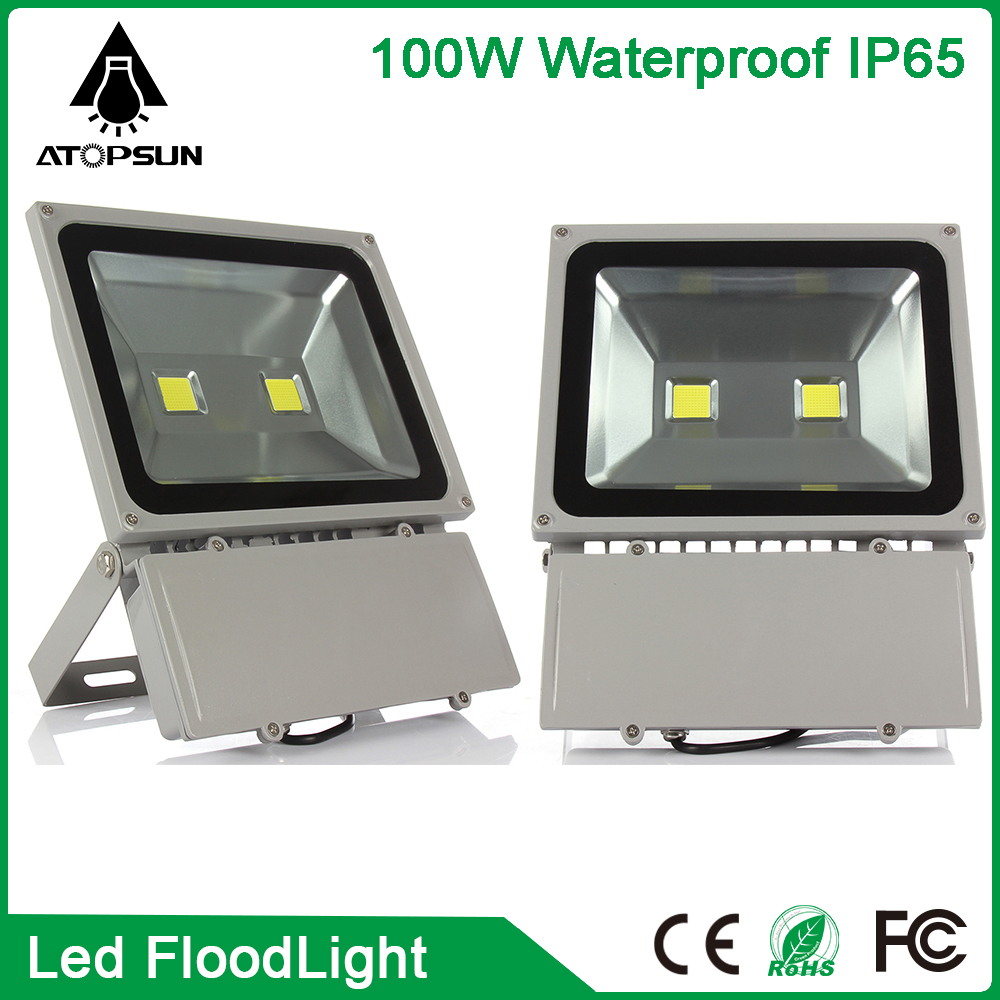 ФОТО 2pcs Outdoor lighting Waterproof LED Flood Light 100W led Reflector Floodlight Spotlight Outdoor Wall Lamp Garden Projectors