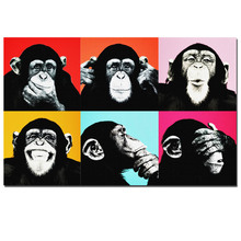 Andy Warhol Colorful Monkey Animal Poster Print Canvas Paintings