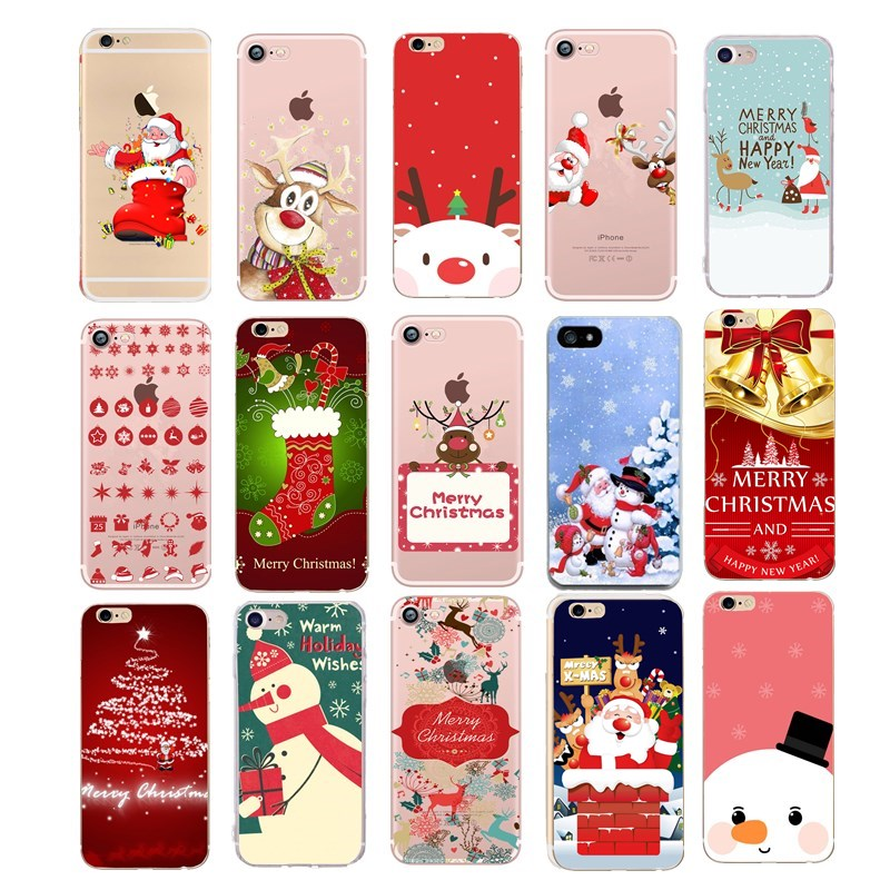 finest selection 03956 643c5 Cute Silicone Phone Cases For Iphone 8 Case Soft TPU Xmas Santa Claus Cover  For Iphone 6 6S 7 8 Plus X XS 5 5S SE Case Coque