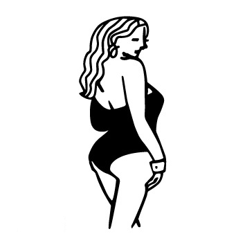 NEW Design Old School Style Sexy Long Hair Gril Temporary Tattoo Sticker Body Art Water  ...