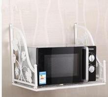 Hanging a microwave aircraft, wrought iron microwave oven Multifunction oven rack shelf in the kitchen