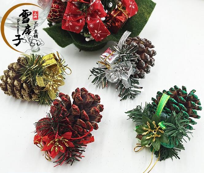 8pcsbag 69cm christmas tree decoration big size natural echinacea christmas tree ornaments - Christmas Tree Bags