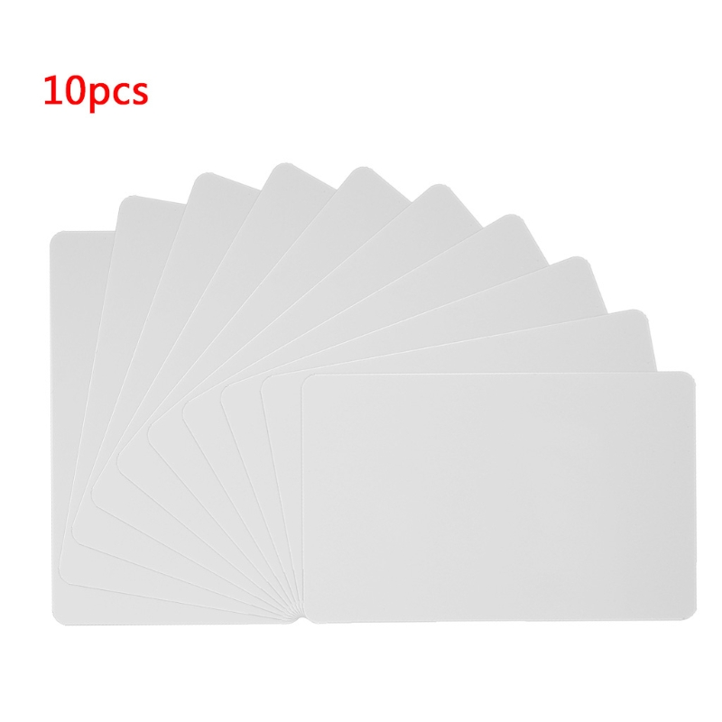 10 Pcs/Set 86×54×0.8mm White RFID Tag 13.56MHz Contactless IC Cards PVC Access Control Attendance Card