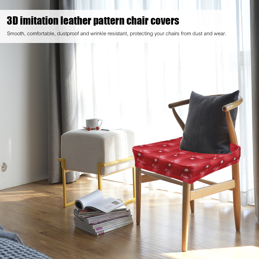 4/6pcs 3D Spandex Chair Covers Stretchable Dining Chair Seat Covers  Ceremony Chair Slipcovers For