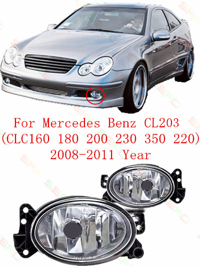 ФОТО Car styling Fog Lamps Oval  For mercedes benz CL203  CLC160/180/200/230/350/220  2008/09/10/11