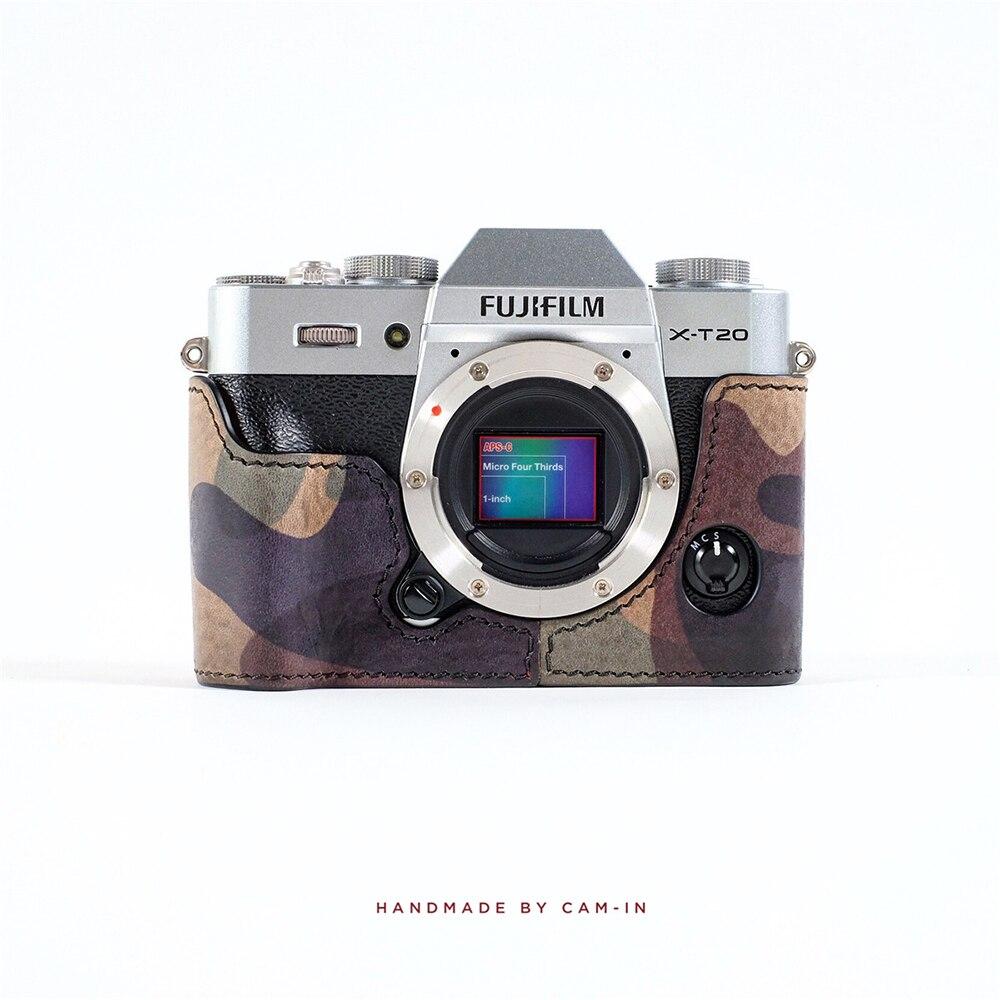 Cam-в LCP-007 ручной Итальянский воловьей кожи Камера защитный чехол только для Fujifilm X-T20 защитный рукав Smart Корпус