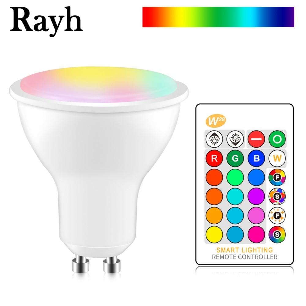 RGB Led Lamp 8w Gu10 Led Bulb Light 220v 110v Dimmable Home Decoration Lighting Color Change Lamp Cup Spotlight + IR Control