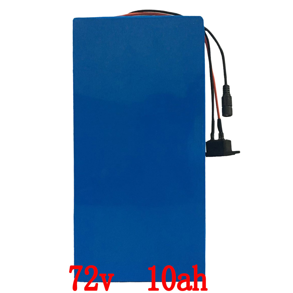 EU no tax 72V 10AH electric bike battery for 1000W motor li-ion lithium battery with 2A charger and 30A  BMS 30a 3s polymer lithium battery cell charger protection board pcb 18650 li ion lithium battery charging module 12 8 16v