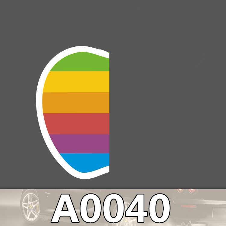 A0040 apple sticker renkli logo meyve su geçirmez PVC bavul kutusu gitar bagaj kaykay bisiklet oyuncak güzel dizüstü çıkartmalar
