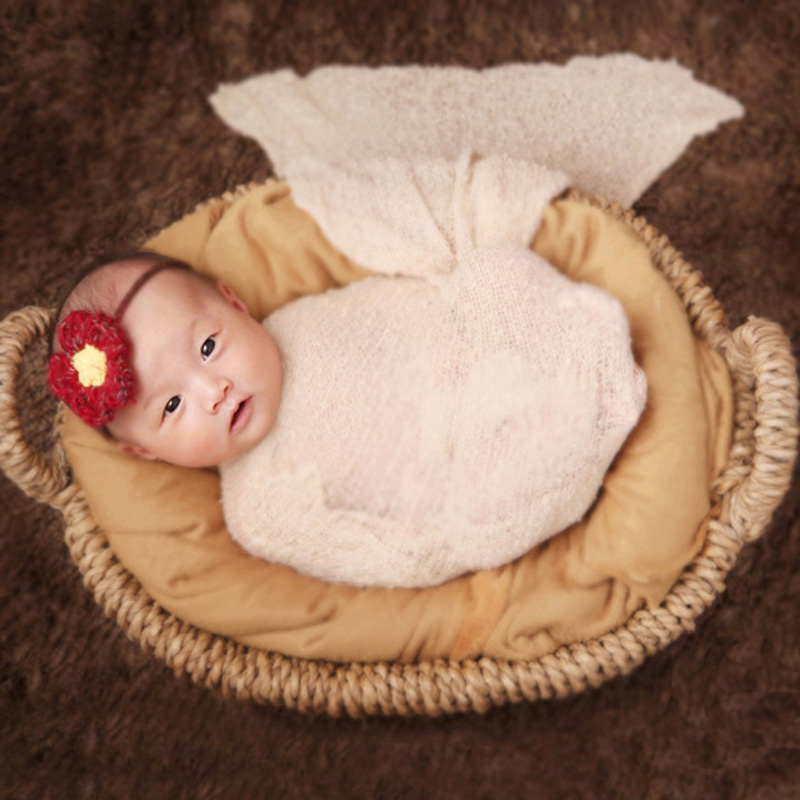 Handmade Newborn Baby Photography Wood Basket Props Tiny Girl Boy Picture Photo Shoot Studio Accessories Baby fotografia Props newborn photography props crochet costume set baby boy knit bib pants studio photography clothing mohair baby gift photo shoot