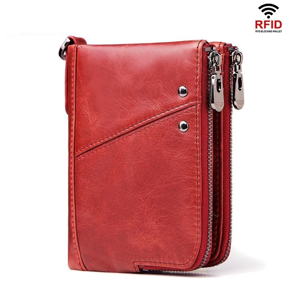 Women's Wallet Cowhide Leather Short Purses Female Small Mini Wallet Woman Coin Purse Lady Card Holder Cuzdan Cartera Mujer