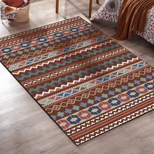 Home bohemian Striped floor rug kids room carpet bedroom living room kitchen crystal velvet area rug bathroom mat anti-skid soft vintage printing anti skid indoor outdoor area rug