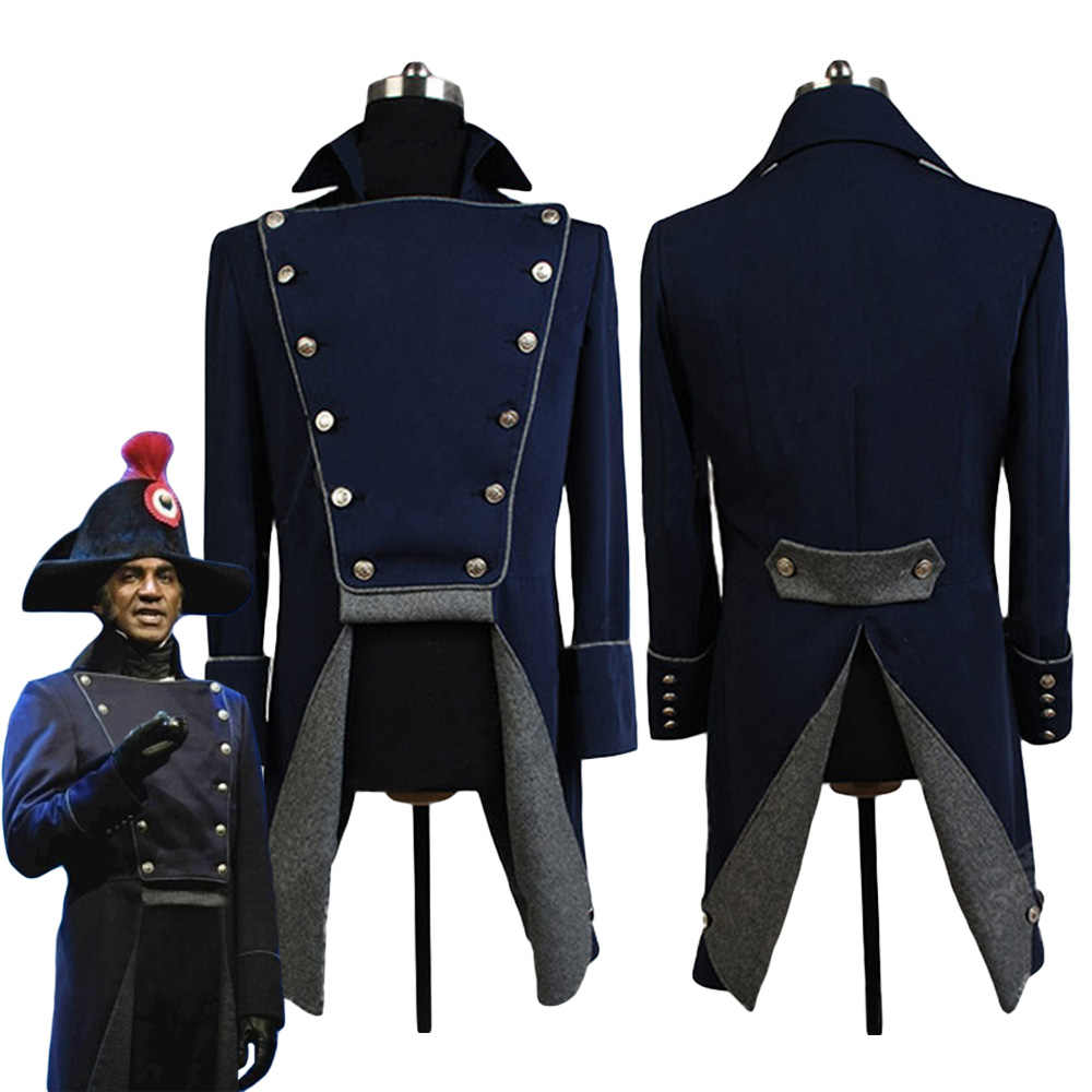 Musical Les Miserables Norm Lewis Javert Jacket Cosplay Traje do Carnaval de Halloween Para Homens Adultos