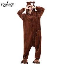 Kigurumi Brown Bear Onesie Slippers Women Men Adult Animal Costume Cartoon Pajama Funny Festival Party Fancy Suit High Quality