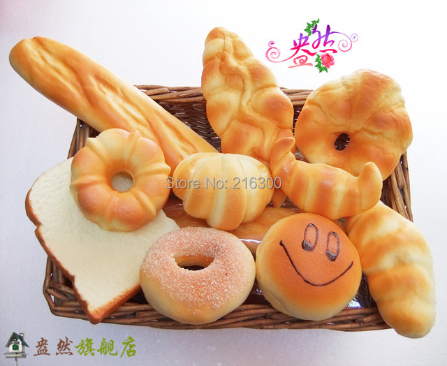 Fake cake artificial bread set bundle platter photography props toy decoration promotional dessert  10ps/pack