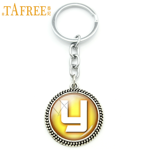 Tafree Simple Letter Key Chain Y Symbol On A Yellow Background