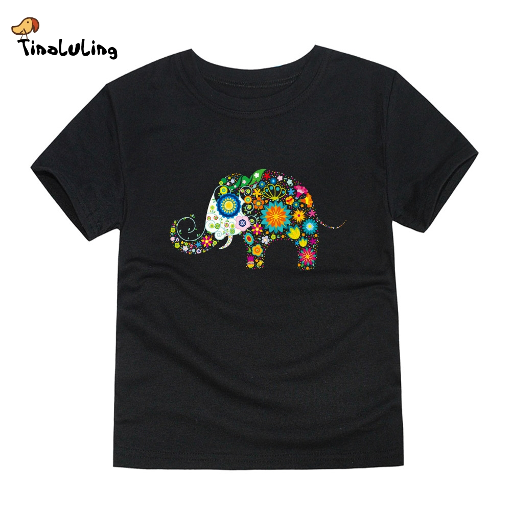 Tinoluling 2017 boys girls elephant t shirt kids top t for Best t shirts for summer