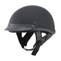 Unisex Moto Crash Helmets ABS Harley helmet Retro half helmet motorcycle helmet Matte Bright Black Motocross Capacete QP023