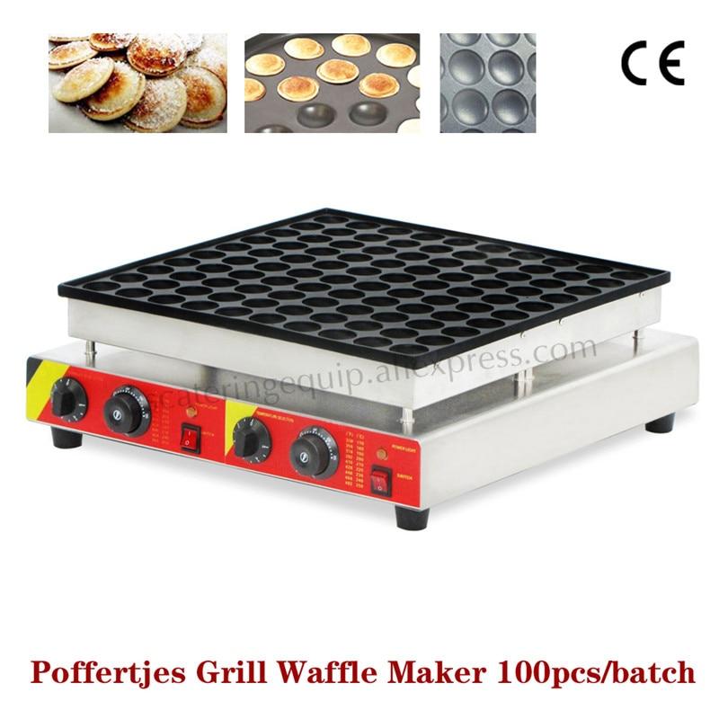 Commercial Non stick Electric Poffertjes Grill Machine 100pcs/batch Mini Dutch Pancake Maker 110v 220v Brand New