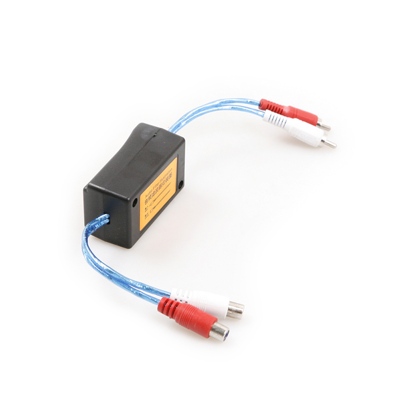 NEW Car RCA Amplifier  Audio Noise Filter 3.5mm Ground Loop Isolator Suppressor