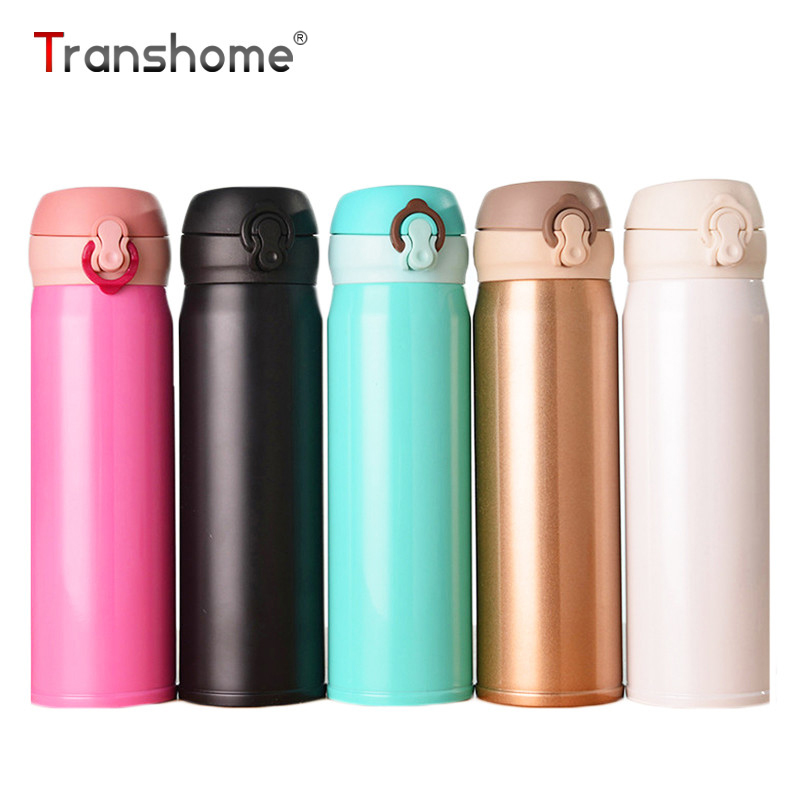 Transhome Thermoskanne Tasse 500 Ml Mode Tragbare Wasserflasche Edelstahl  Tumbler Thermocup Isolierflasche Isolierten Thermosflasche Schalen In  Transhome ...