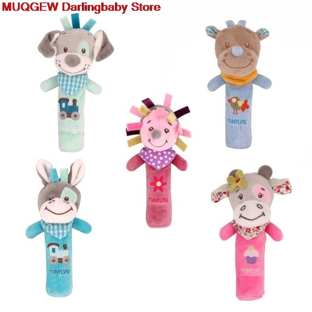 Cartoon Animals Hand Bells Musical Soft Toys Developmental Bed Baby Rattles  Mobiles Fun Funny Interesting Toys
