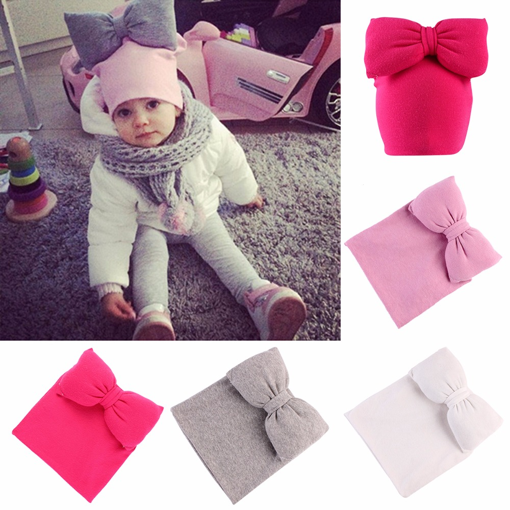 Puseky 2017 Cashmere Wool Cute Baby Butterfly Knot Cap Warm Beanie Baby Hat Autumn And Winter Warm Knitted Cap For Children gift children knitting wool hat cute keep warm rabbit beanie cap autumn and winter hat with earflaps whcn