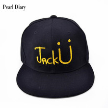 Фотография Jack U Rock cap Embroidery baseball caps cotton Casual snapback hats hip hop for men dad cap DJ Skrillex Music Logo hat