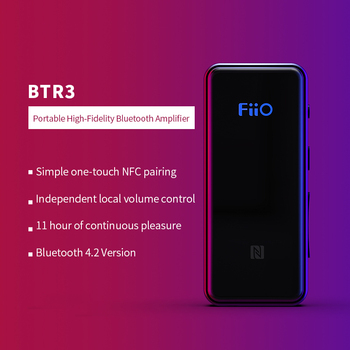 FiiO BTR3 Bluetooth Receiver 4.2 aptXLL Wireless Bluetooth Audio Receiver 3.5mm Car Aux Bluetooth Adapter for Speaker Headphone  buddhist rope bracelet