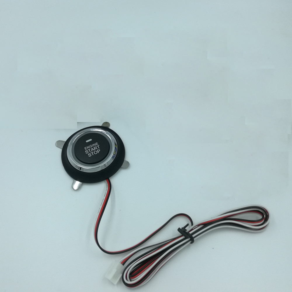 12V Car Engine PKE Start/Stop Button Ignition Starter Engine Only The Button working with Keyless Entry Car Start System