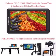 Feelworld F6 5.7″ IPS 4K HDMI Camera-top Monitor for Camera it Can Power for DSLR or Mirrorless Camera,Monitoring for Stabilizer