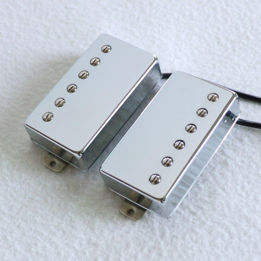 NEW Premium AlNiCo V Humbucker Pickup Set PAF Style Nickel Silver NICKEL