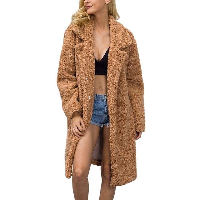 HimanJie осень-зима Искусственный мех пальто 2017 Hand Made искусственной овечьей шерстью куртка Для женщин теплые Искусственный мех шерстяное пальто кардиган пальто