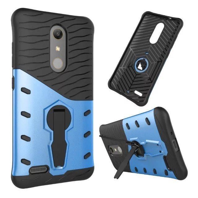 New Slim Heavy Duty Hybrid Back Cover Hard Armor Holder Phone Case With Stand case For ZTE Zmax Pro Z981 Z988