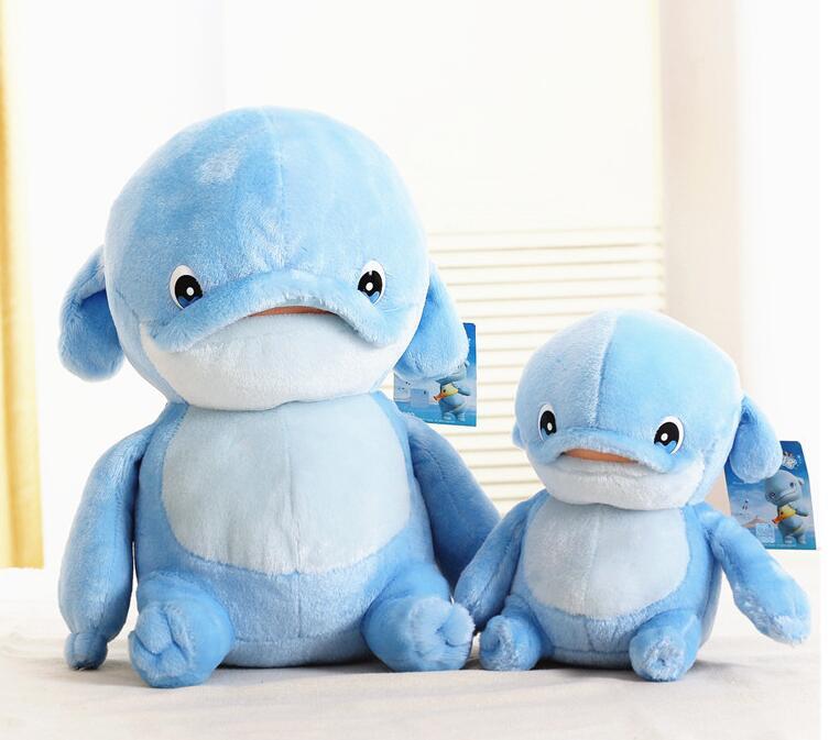 Игрушек! Супер милая плюшевая игрушка мультфильм синий Дельфин mumu hug MUMUHUG розовый БОБО Мягкая кукла подарок на день рождения Рождество 1 шт - Цвет: 36cm big mumu