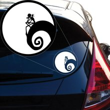 Yoonek Graphics Jack Skellington Nightmare Before Christmas Decal Sticker for Car Window,