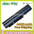 Apexway 4400 mah preto bateria do portátil para acer one 571 a110 a150 a150l a150x d150 gateway um08a73 um08b71 um08b72 um08b73 um08b74