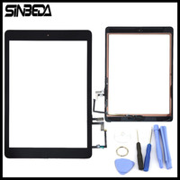 Sinbeda Full Assembly For iPad Air 5 5th A1474 A1475 Touch Screen Digitizer +Button + Flex Cable +Adhesive Parts Black or White