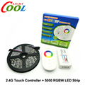 5050 RGBW LED Strip 5m + 2.4G Touch controller DC12V 60LED/m RGBW / RGBWW Flexible LED Light Sets