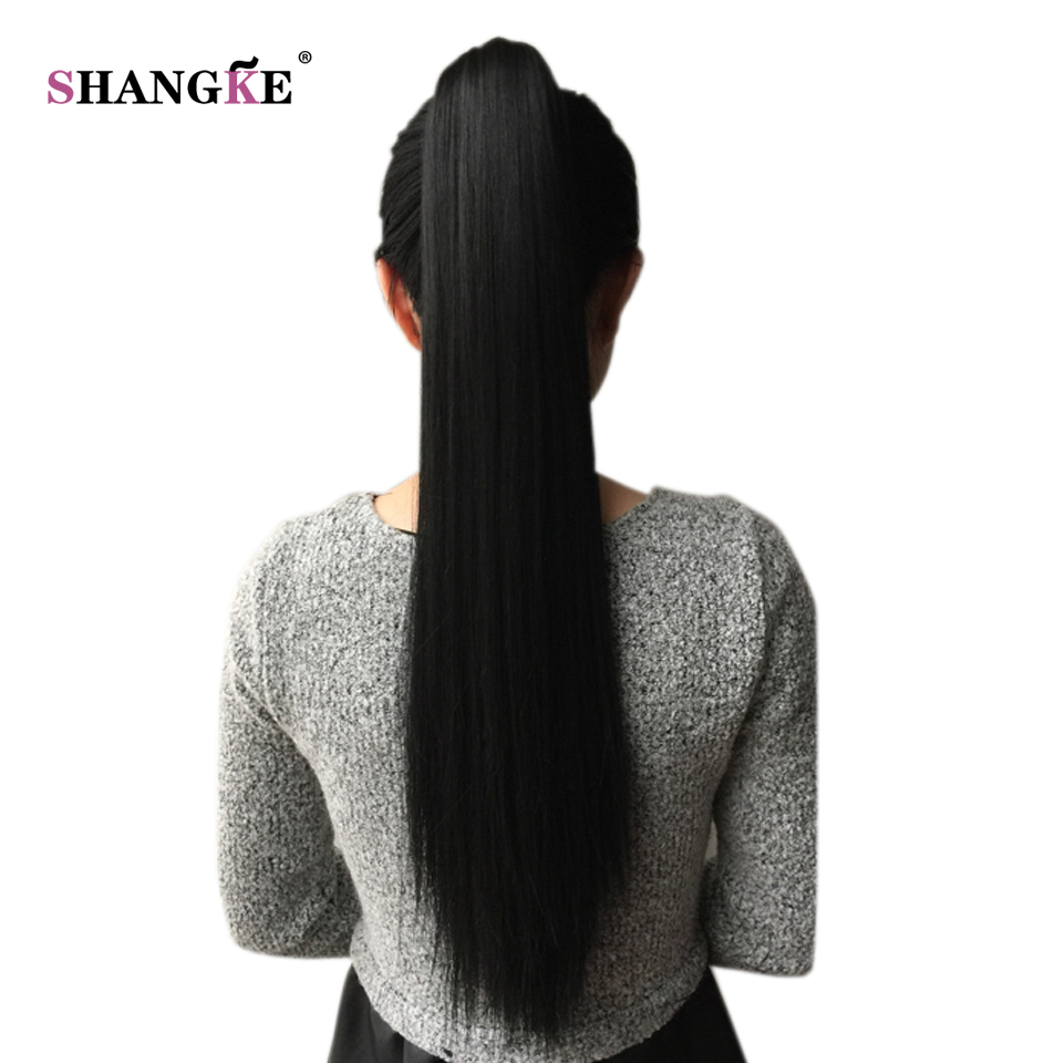 SHANGKE Hair Ponytails with Clip Hair Bun Synthetic Claw Ponytail Hair Extensions Hairpiece Heat Resistant Fake Hair